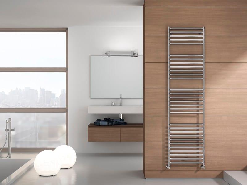Wall-mounted steel towel warmer STILÉ by IRSAP