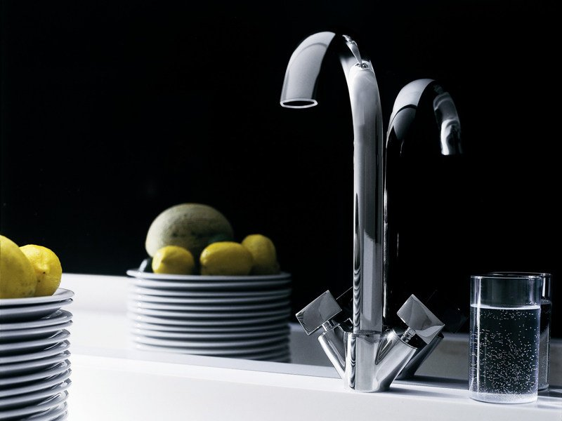 Chrome-plated kitchen tap ISYFRESH | Kitchen tap by ZUCCHETTI
