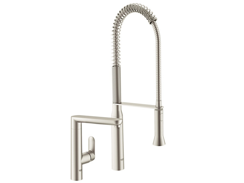 2 hole professional kitchen mixer tap with spray K7 | Professional kitchen mixer tap by Grohe