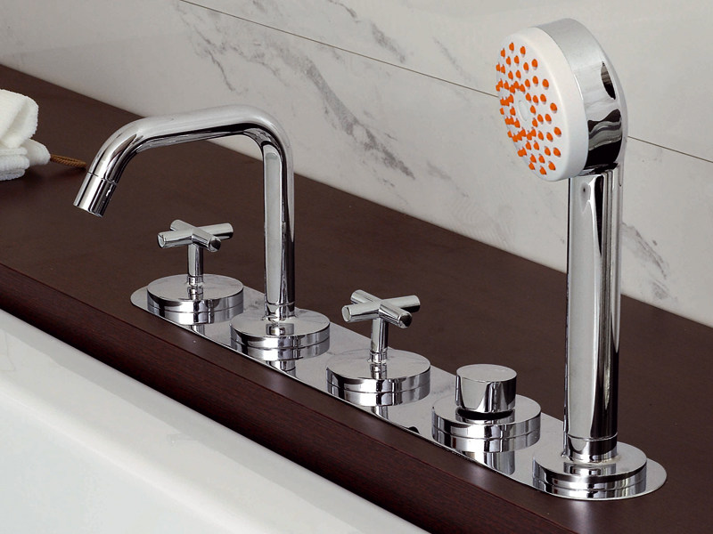 5 hole bathtub set with hand shower ISYARC   Bathtub set by ZUCCHETTI