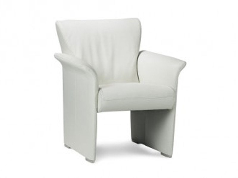 Armchair with armrests with headrest with footstool AQUA by JORI