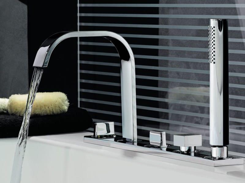 5 hole bathtub set with hand shower AGUABLU | Bathtub set by ZUCCHETTI