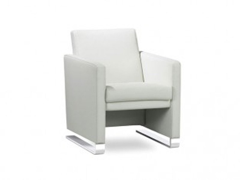 Upholstered beech armchair with armrests NAVY | Armchair by JORI
