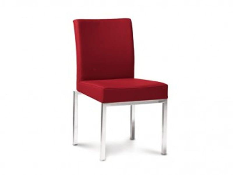 Upholstered fabric chair SINGOLO by JORI