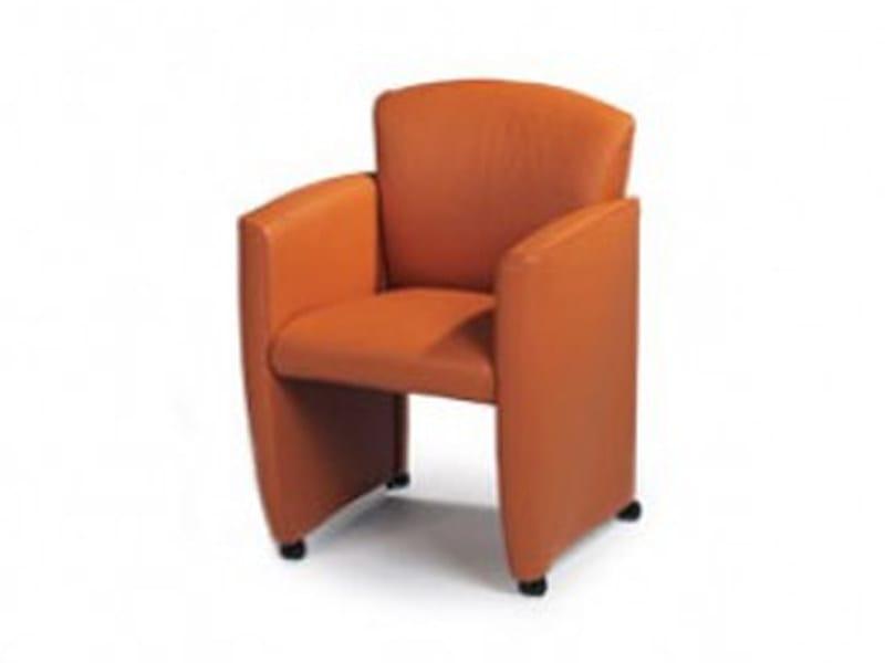 Upholstered chair with armrests VINCI JR-3210 by JORI