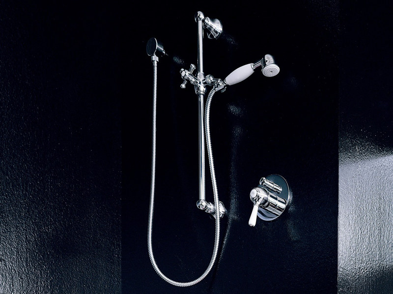 Shower wallbar with hand shower with mixer tap DELFI | Shower wallbar by ZUCCHETTI