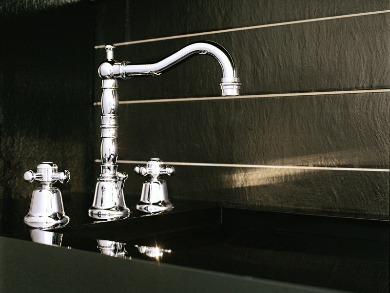 3 hole chrome-plated washbasin tap DELFI | Washbasin tap by ZUCCHETTI