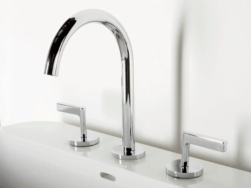 3 hole chrome-plated washbasin tap SIMPLY BEAUTIFUL | 3 hole washbasin tap by ZUCCHETTI
