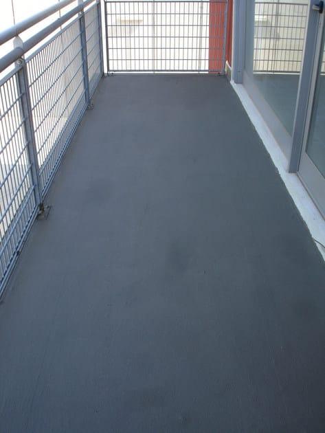 Terrazzo impermeabilizzanto con Acriflex Fybro, pronto per essere rivestito mediante piastrelle