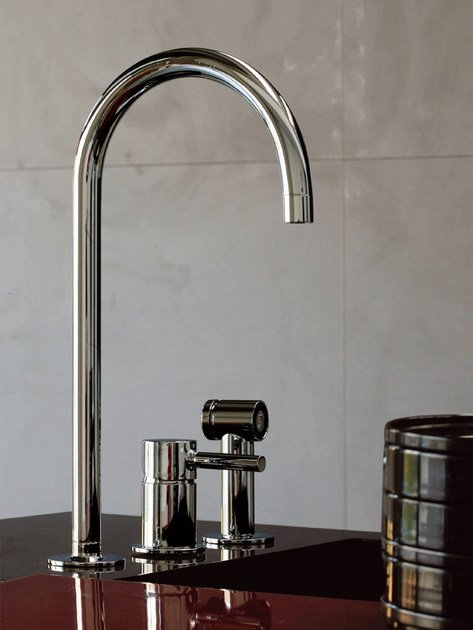 3 hole kitchen mixer tap with spray PAN | 3 hole kitchen mixer tap by ZUCCHETTI