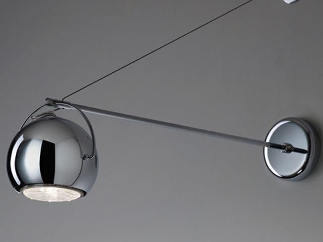 Direct light wall lamp BELUGA STEEL   Wall lamp by Fabbian