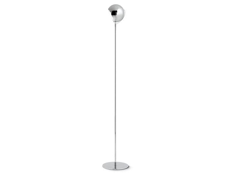 Adjustable metal floor lamp BELUGA STEEL | Floor lamp by Fabbian