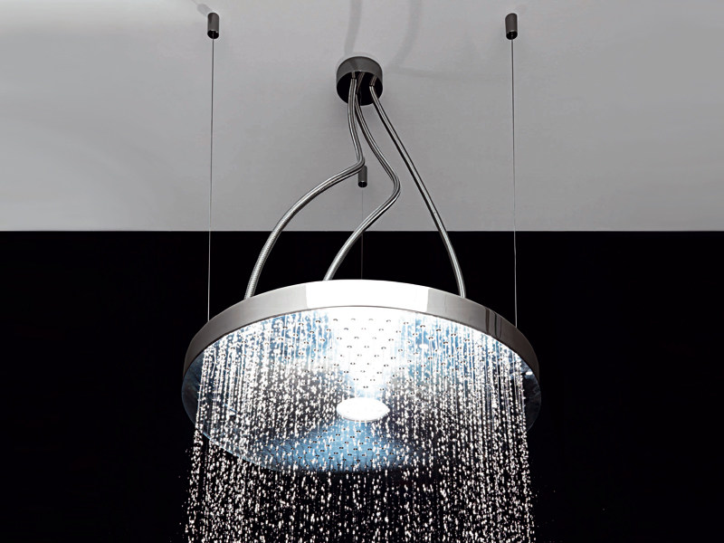 Ceiling mounted stainless steel overhead shower with built-in lights Z94199 | Overhead shower by ZUCCHETTI