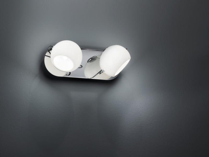 Adjustable wall lamp BELUGA WHITE | Wall lamp by Fabbian