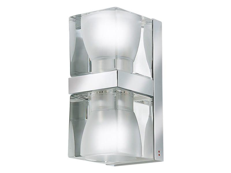 Glass wall light CUBETTO   Wall light by Fabbian