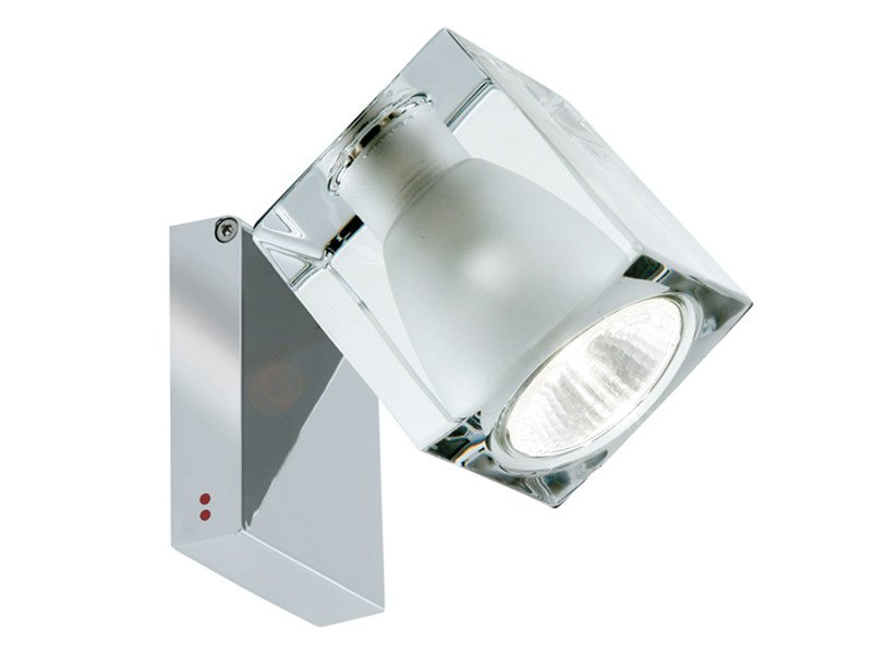 Wall-mounted adjustable spotlight CUBETTO | Adjustable spotlight by Fabbian