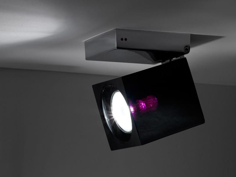 Adjustable ceiling spotlight CUBETTO | Adjustable spotlight by Fabbian