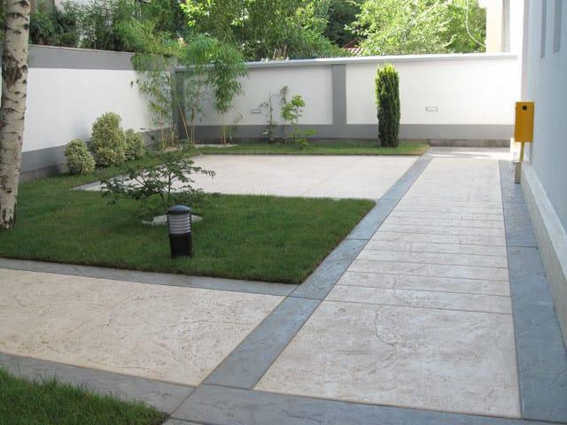 Pavimento Esterno Cemento : Pavimento per esterni in calcestruzzo pavimento stampato ideal work