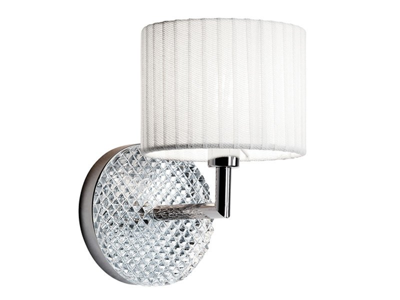 Chrome plated wall lamp DIAMOND SWIRL | Wall lamp by Fabbian