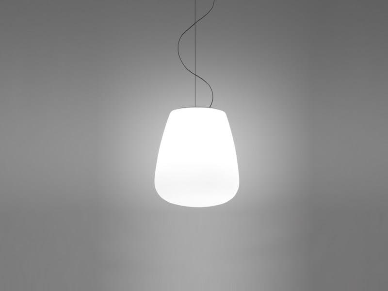 Glass pendant lamp LUMI BAKA   Pendant lamp by Fabbian