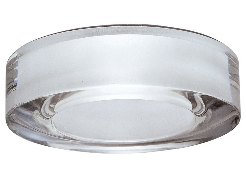 Recessed crystal spotlight for false ceiling LEI by Fabbian