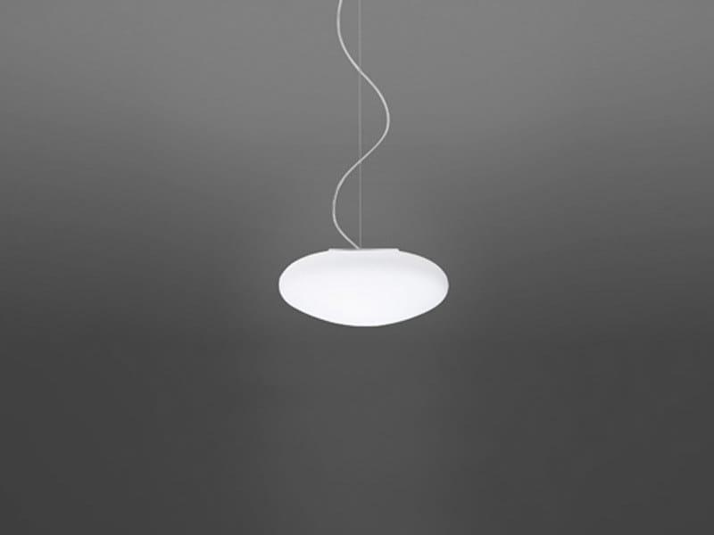 Glass pendant lamp LUMI WHITE | Pendant lamp by Fabbian