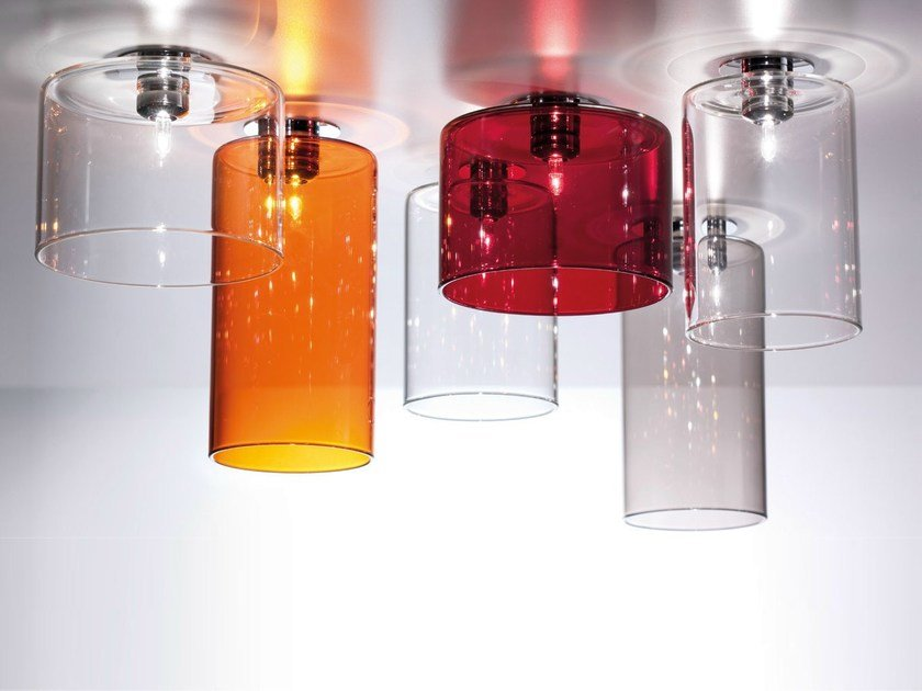 Halogen crystal ceiling lamp SPILLRAY | Ceiling lamp by AXOLIGHT