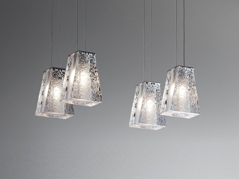 Crystal pendant lamp VICKY | Crystal pendant lamp by Fabbian