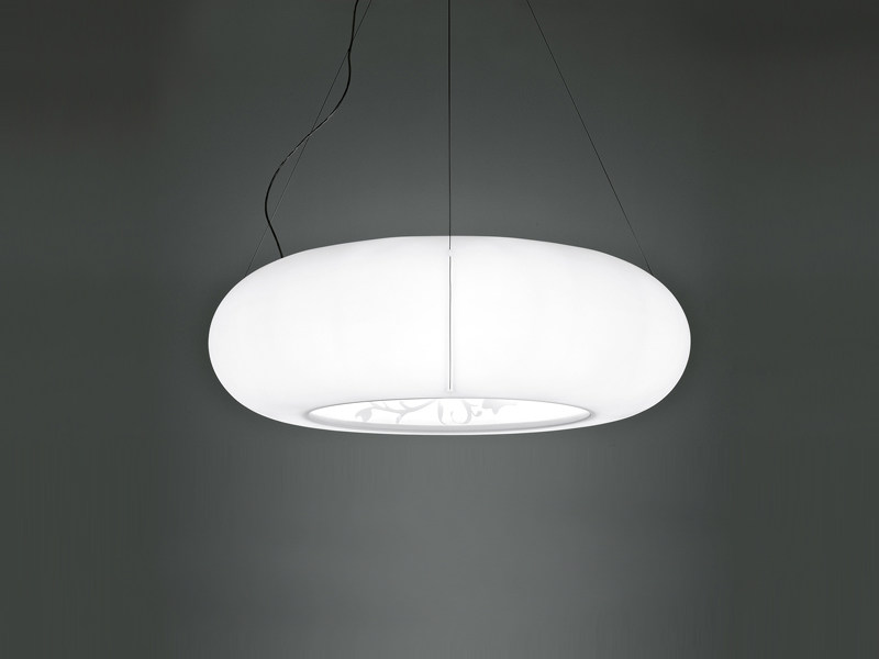 Polyethylene pendant lamp TOROIDALE by Fabbian