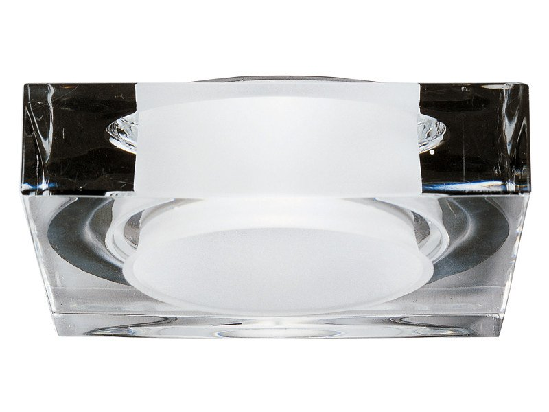 Recessed crystal spotlight for false ceiling LUI by Fabbian