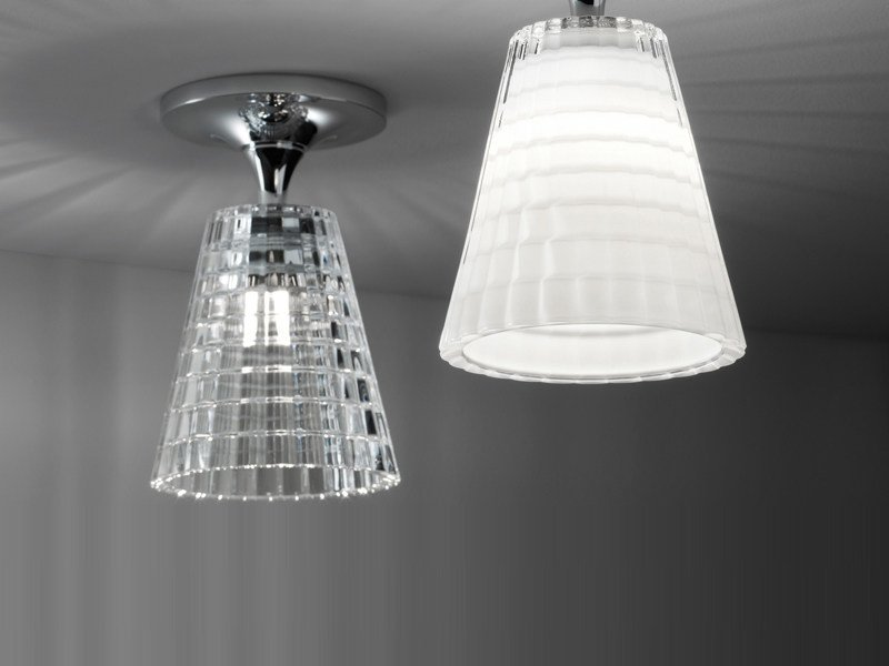 Crystal ceiling lamp FLOW | Ceiling lamp by Fabbian