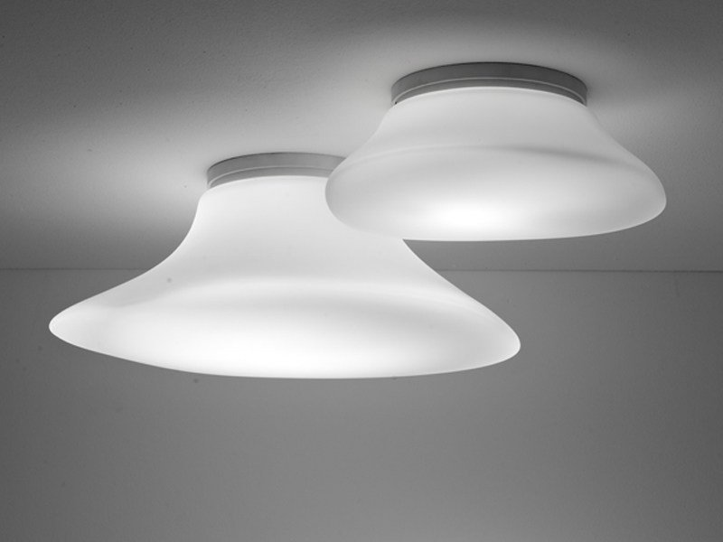 Halogen fluorescent glass ceiling lamp LUMI MYCENA | Ceiling lamp by Fabbian