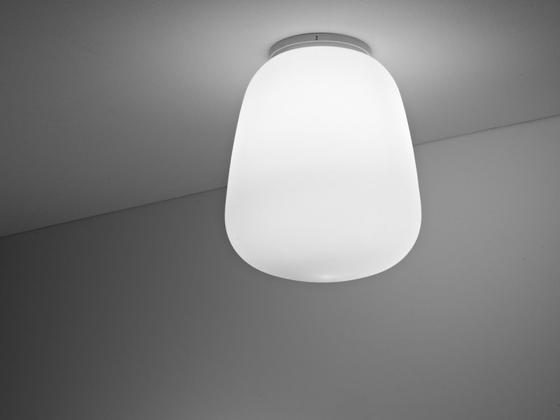 Glass ceiling lamp LUMI BAKA | Ceiling lamp by Fabbian