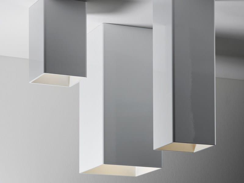 Aluminium ceiling lamp SLOT | Ceiling lamp by Fabbian