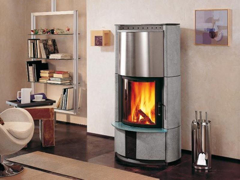 Wood-burning Central stove C DUE. by Piazzetta