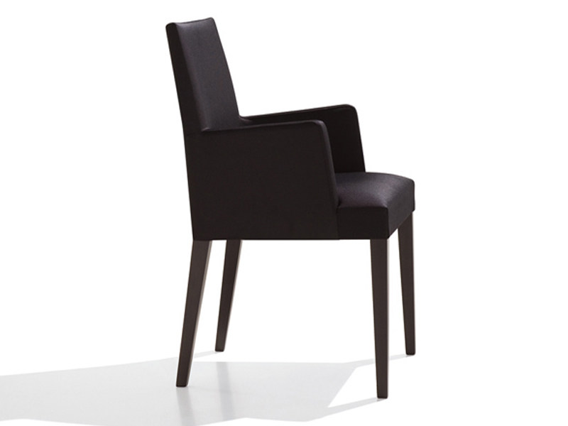 Upholstered chair with armrests ANNA | Upholstered chair by Andreu World
