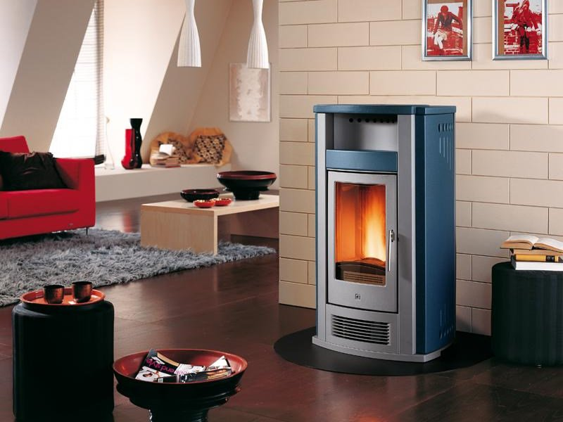 Pellet stove for air heating P960 | Pellet stove by Piazzetta