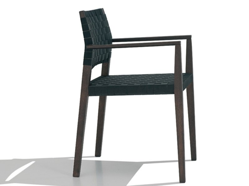 Wooden chair with armrests VALERIA | Chair with armrests by Andreu World