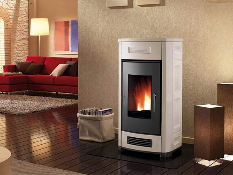Pellet stove for air heating P962 | Pellet stove by Piazzetta