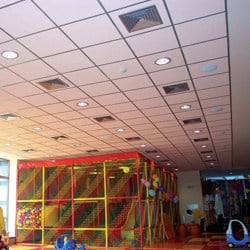Sound absorbing mineral fibre ceiling tiles THERMOFON by Knauf Amf