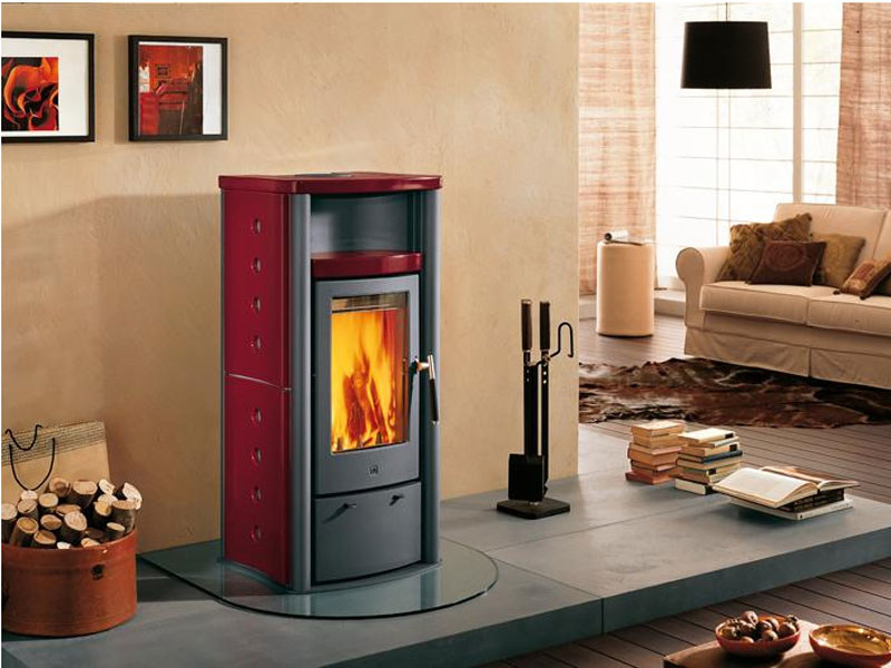 Wood-burning stove for air heating E922 | Wood-burning stove by Piazzetta