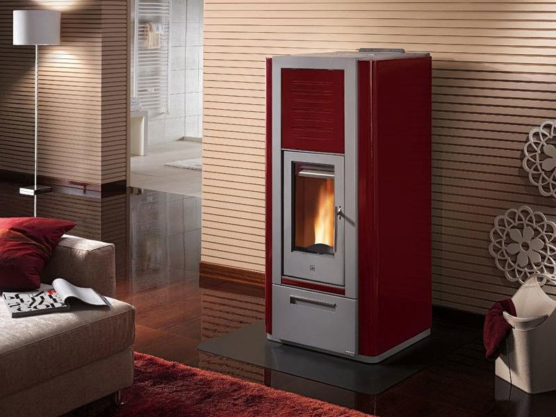 Pellet Heating stove P966 THERMO | Heating stove by Piazzetta