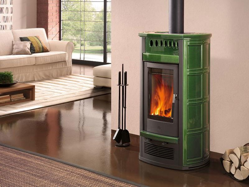 Wood-burning stove for air heating E923   Wood-burning stove by Piazzetta