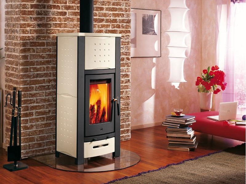 Wood-burning stove for air heating E912 | Wood-burning stove by Piazzetta