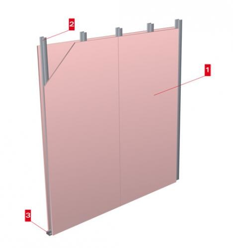 Fireproof panel for interior partition Firegyps 15/75/15 by LINK industries