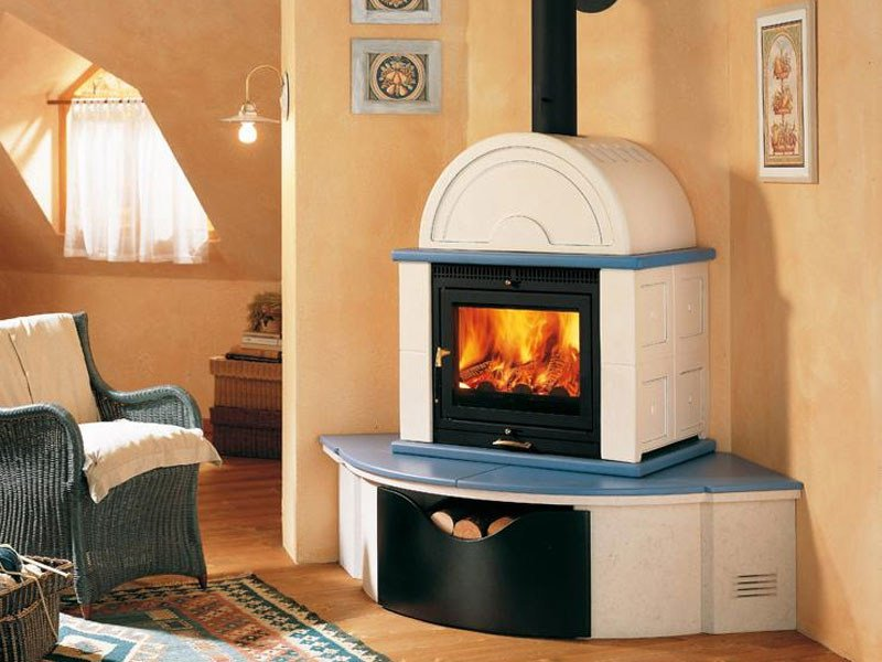 Wood-burning stove for air heating MO1M | Wood-burning stove by Piazzetta