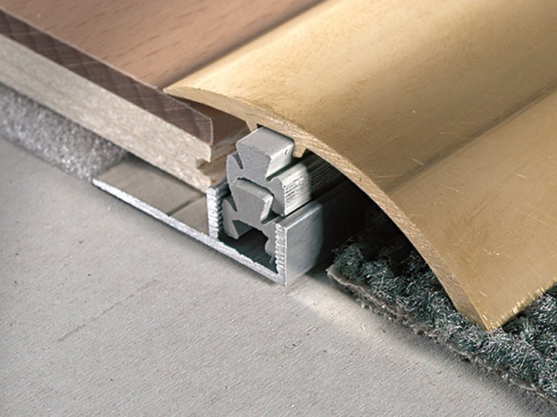 Terminal profile for mismatching floors 12 -18 mm MULTICLIP CLF 490 by PROFILITEC