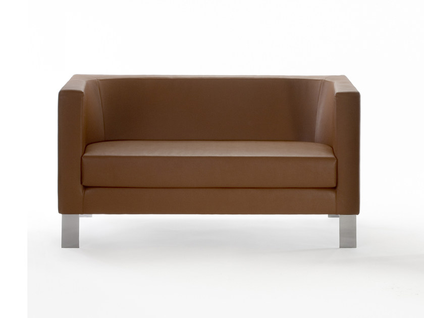 2 seater leather sofa BAY | Sofa by ROSSIN