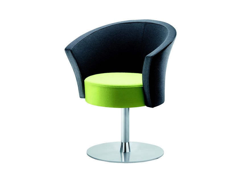 Swivel easy chair with armrests BOB | Swivel easy chair by ROSSIN
