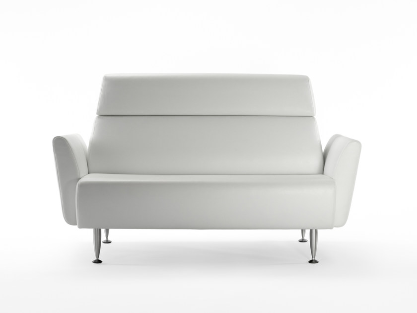 2 seater synthetic fabric sofa DAFNE | 2 seater sofa by ROSSIN